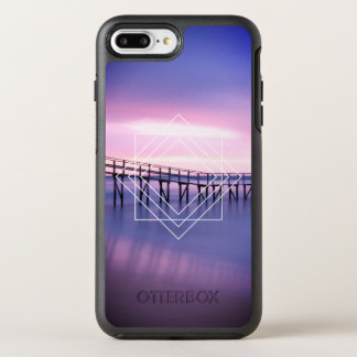 Purple & Pink Beach Sunset with Geometric Design OtterBox Symmetry iPhone 8 Plus/7 Plus Case