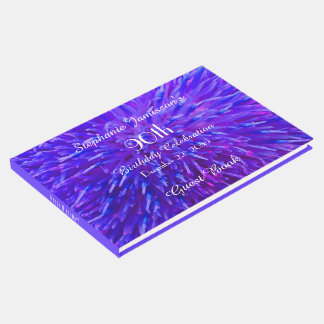 Purple Pink Blue Birthday Party Memory/Guest Book