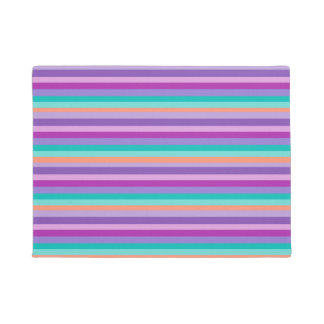 Purple,Pink & Blue Lines   Door Mat