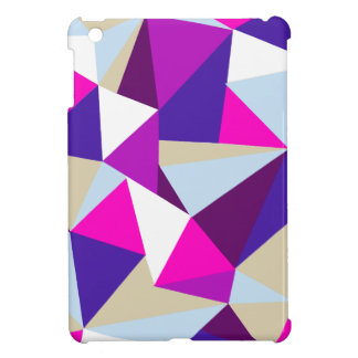 purple pink blue triangle pattern cover for the iPad mini