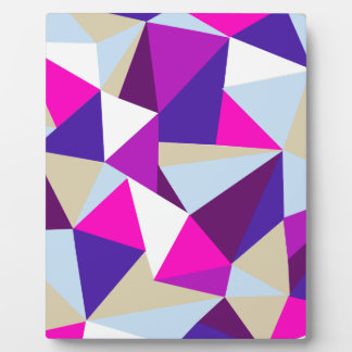 purple pink blue triangle pattern plaque