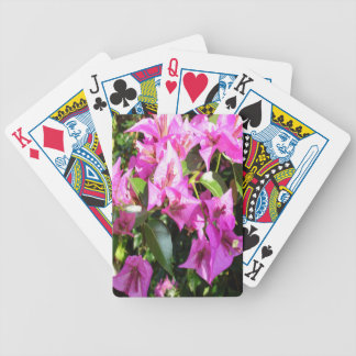 Purple Pink Bougainvillia In Blossom Bicycle Playing Cards