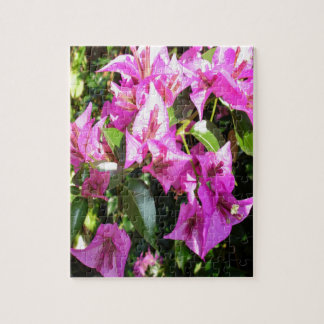 Purple Pink Bougainvillia In Blossom Puzzle