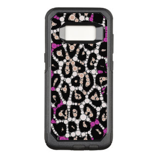 Purple Pink Cheetah Circle Abstract OtterBox Commuter Samsung Galaxy S8 Case