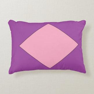 PURPLE & PINK DIAMOND  Polyester Accent Pillow