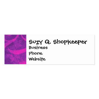 Purple Pink Floral Swirl Flourish Girly Pattern Business Card Templates