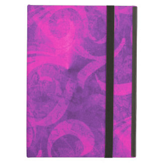 Purple Pink Floral Swirl Flourish Girly Pattern iPad Folio Cases