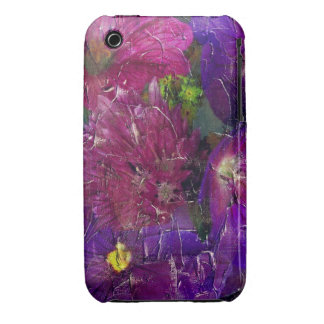 Purple Pink Flower Garden Case-Mate iPhone 3 Cases