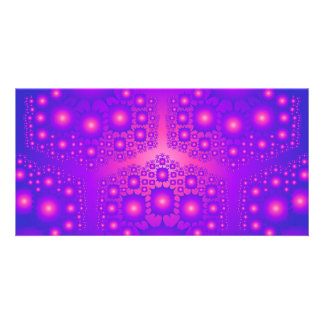 Purple Pink Fractal Explosions Photo Cards