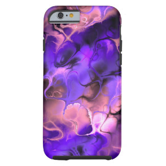 Purple Pink Fractal Swirl Tough iPhone 6 Case