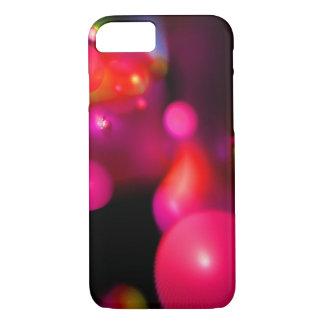 PURPLE PINK FUCHSIA ORANGE QUANTUM BUBBLES iPhone 8/7 CASE