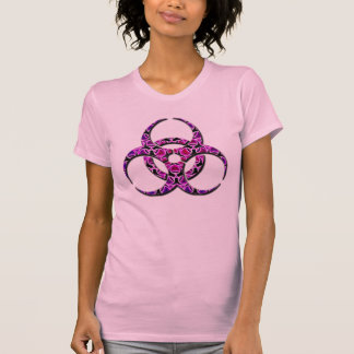 Purple pink girly biohazard T-Shirt