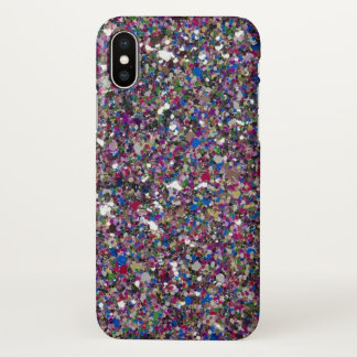 Purple Pink Glitter Sparkles Beautiful iPhone X Case