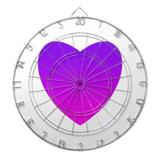 Purple/Pink Heart Dartboard