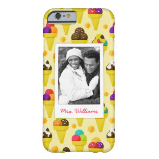 Purple & Pink Ice Cream Cones | Add Your Photo Barely There iPhone 6 Case