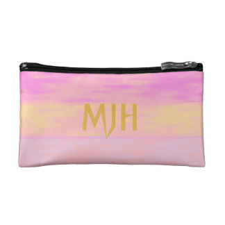 Purple Pink Orange Faded Paint Strokes Personalize Cosmetic Bag