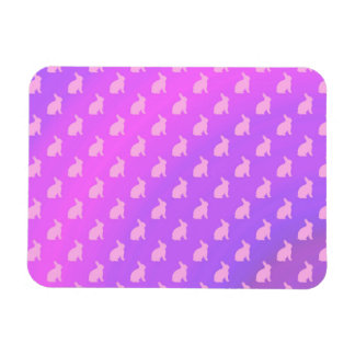 Purple Pink Pastel Bunny Background Bunnies Rectangular Photo Magnet