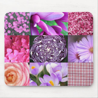 Purple / Pink Photo Collage Mouse Pad