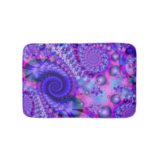 Purple Pink Spiral Bath Mat