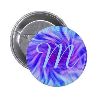 Purple & pink swirl background for monogram 2 inch round button