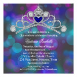 Purple Pink Teal Blue Quinceanera Personalized Invitation