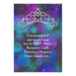 Purple Pink Teal Tiara RSVP All Purpose