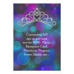 Purple Pink Teal Tiara RSVP All Purpose Invites