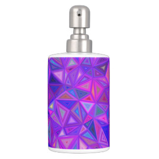 Purple pink tile mosaic toothbrush holder