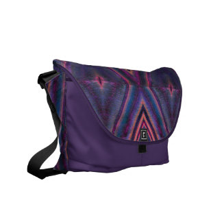 purple pink tile pattern commuter bags