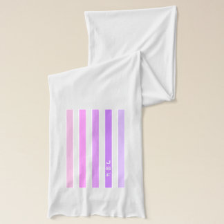 Purple & Pink Vertical Stripes Monogram Scarf