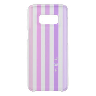 Purple & Pink Vertical Stripes Monogram Uncommon Samsung Galaxy S8 Case