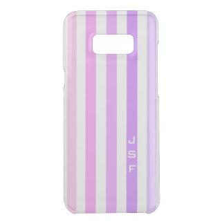 Purple & Pink Vertical Stripes Monogram Uncommon Samsung Galaxy S8 Plus Case