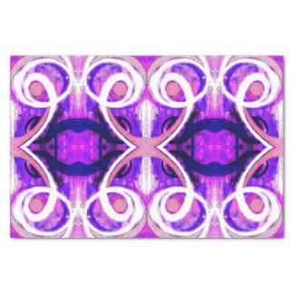 Purple, Pink & White Abstract Tissue Paper