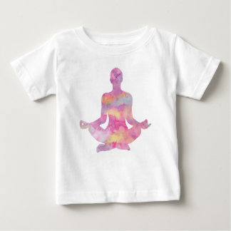 Purple pink yogi meditating baby T-Shirt