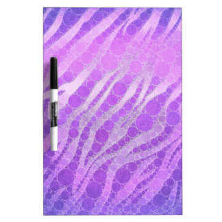 Purple Pink Zebra Dry Erase Board