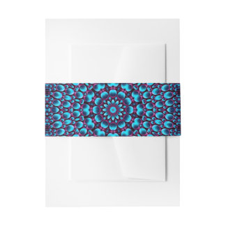 Purple Piper Colorful Invitation Belly Band