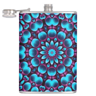 Purple Piper Colorful Vinyl Wrapped Flasks