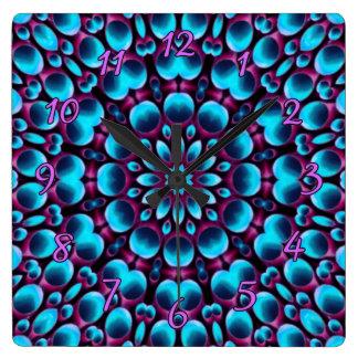 Purple Piper Colorful Wall Clocks