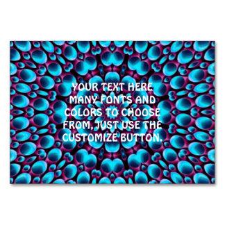 Purple Piper Kaleidoscope   Tablecards Table Card