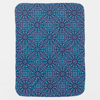 Purple Piper  Tiled Design Baby Blankets