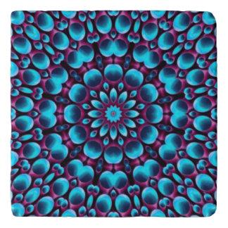 Purple Piper  Vintage Kaleidoscope  Stone Trivet