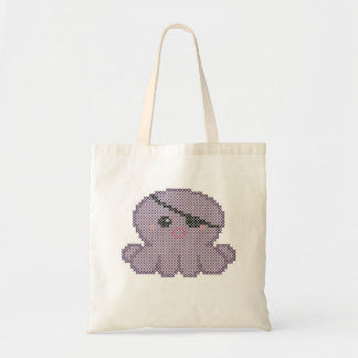 Purple pirate octopus - Stitchable bag