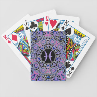 Purple Pisces Mandala Bicycle Playing Cards