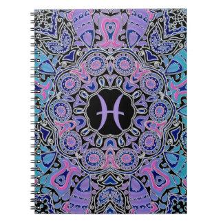 Purple Pisces Mandala Notebook
