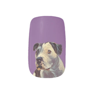 Purple Pitbull Minx Nail Art