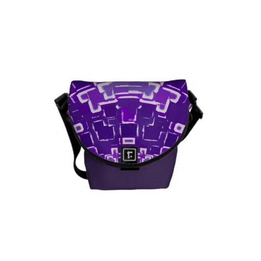 Purple Pixel Mini Messenger Bag
