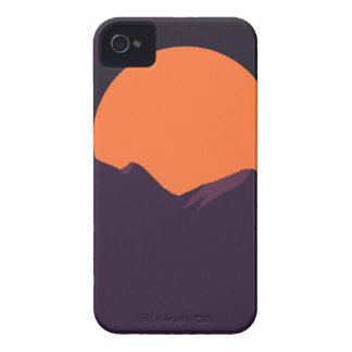 Purple Pixel Sunset iPhone 4 Cover