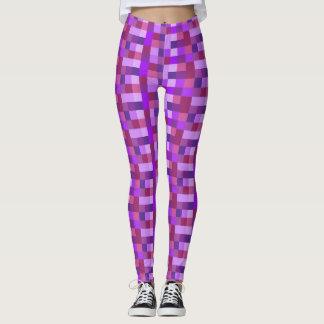 Purple Pixelatad Leggings