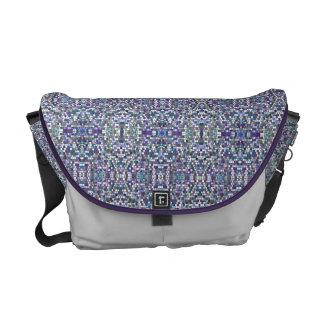 Purple Pixels Messenger Bag