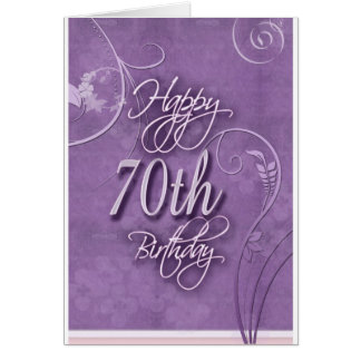Purple pizazz for 70th birthday card